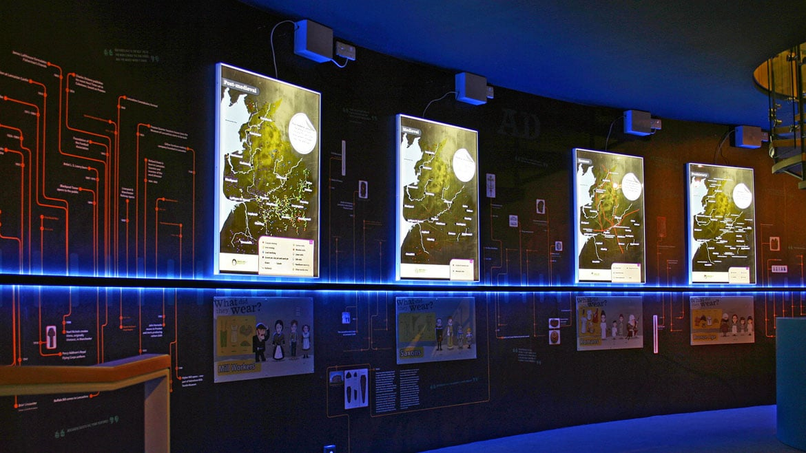 Nebula acrylic led lightbox with applied graphics in museum