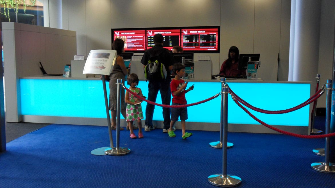 IMAX ticket desk Feature Lighting
