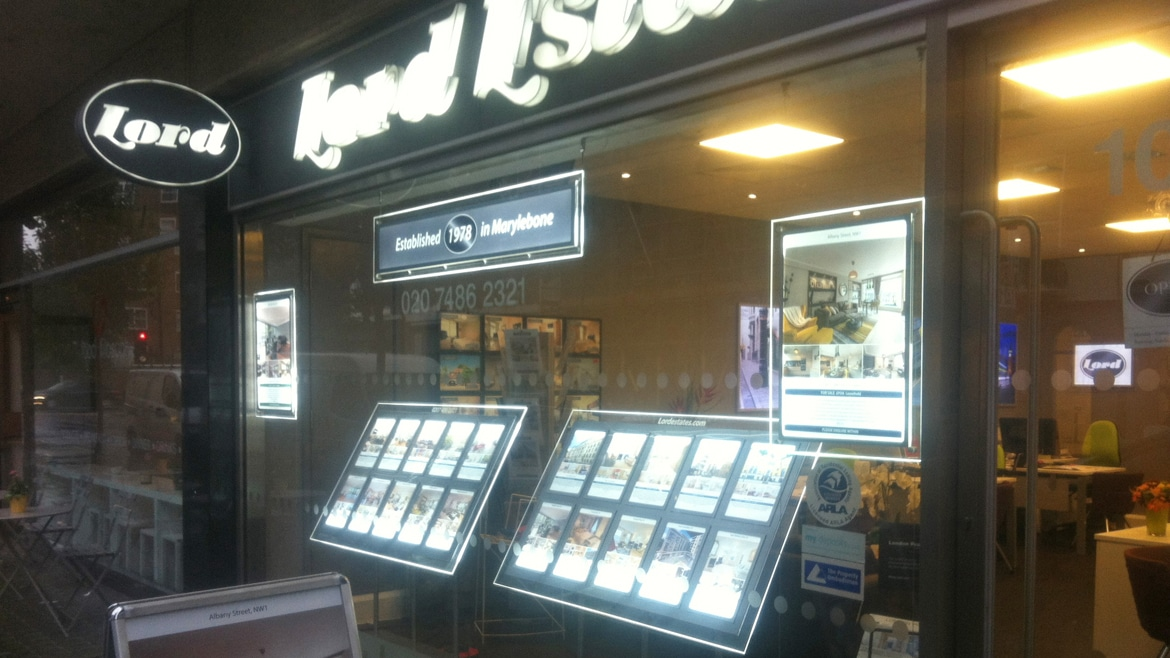 Property Industry - Estates Agent shop window displays
