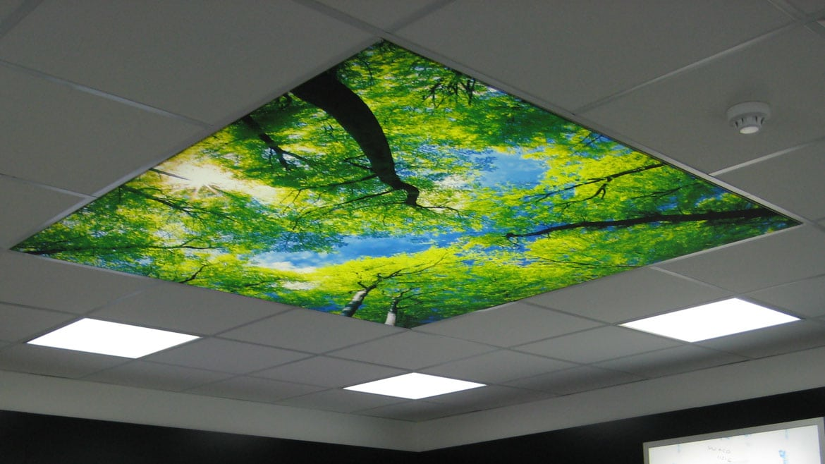 Light Boxes Ceiling Mounted Tension Fabric Face Led