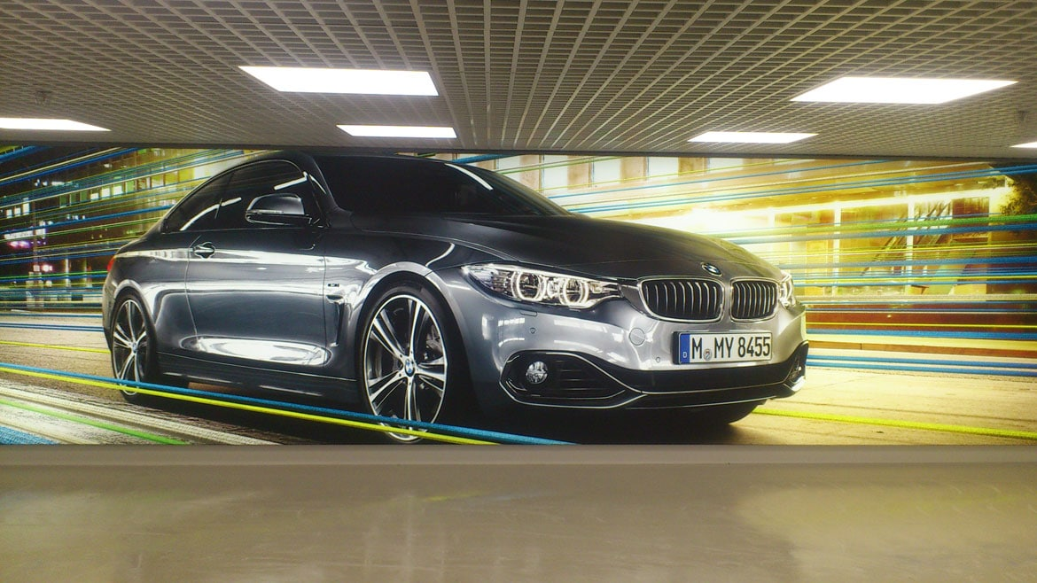 Tension Fabric System LED Light Box for BMW