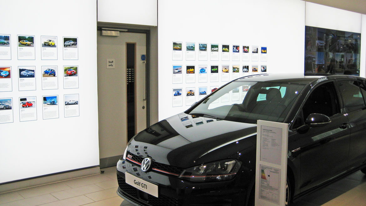 LED Fabric Feature Lightboxes at Volkswagen Showrooms