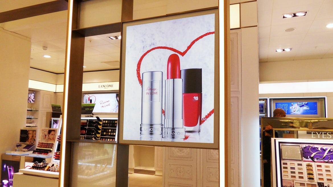 Retail Display LED Light Boxes in John Lewis